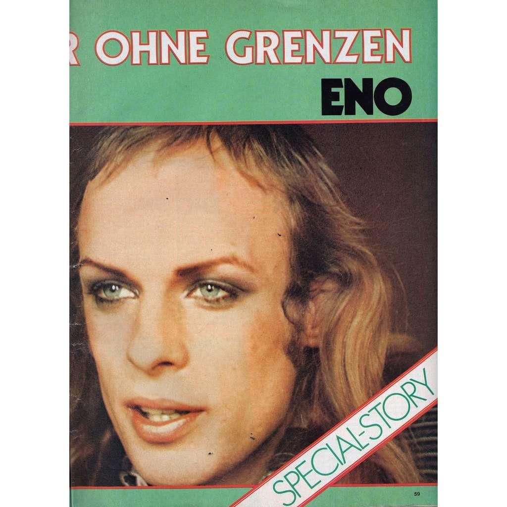 Brian Eno Musik Express (N.7 July 1980) (German 1980 music magazine!!)