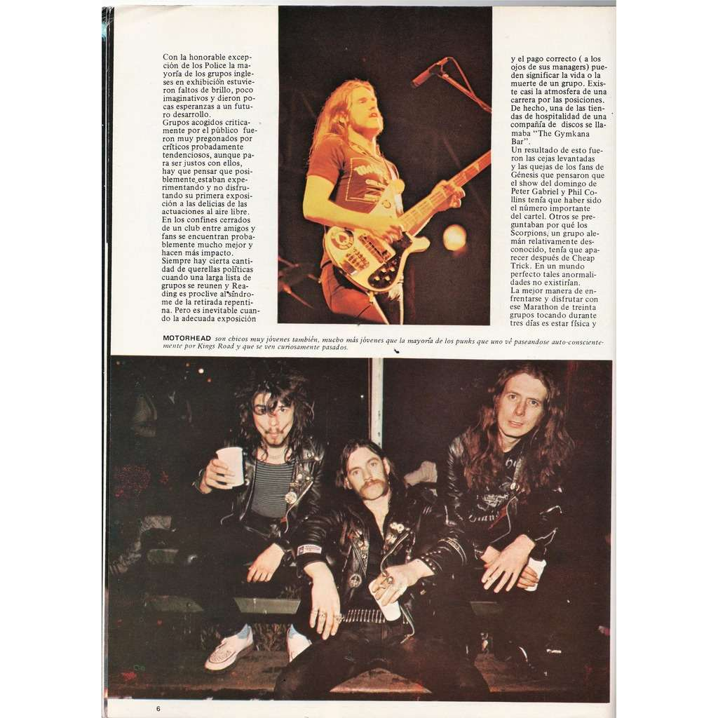 Motorhead Popular 1 (1979) (Spanish 1979 'Reading Rock '79' special issue music magazine)