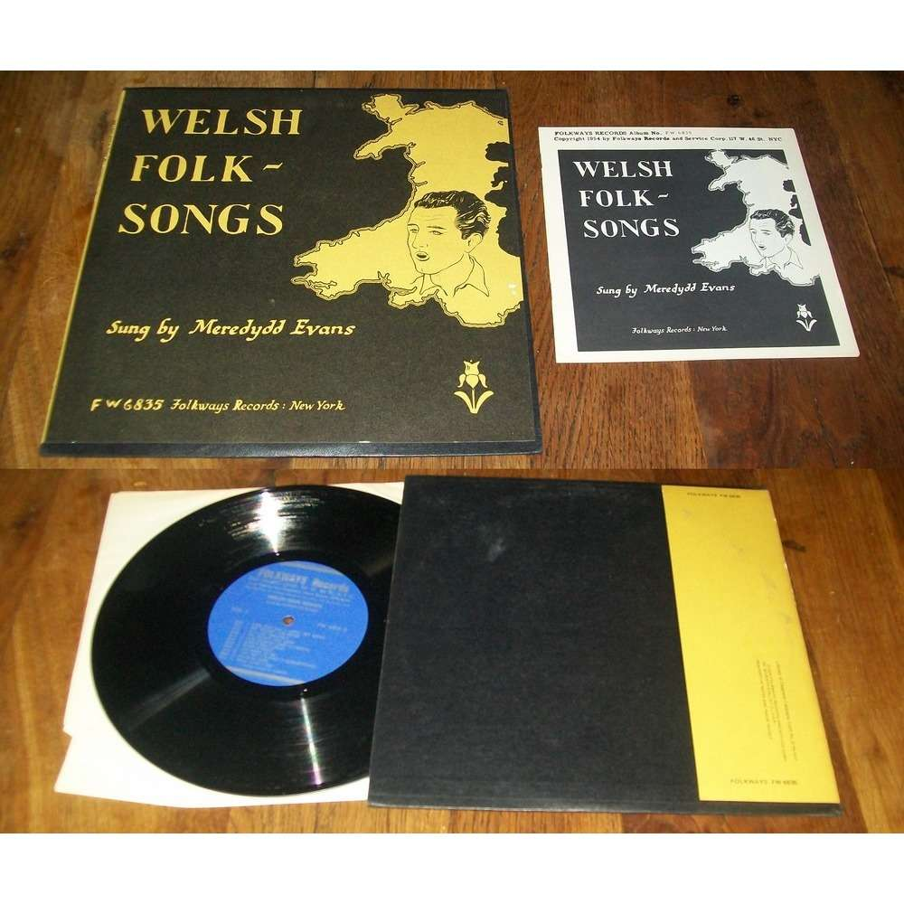 Meredydd Evans Welsh Folk-Songs (With Booklet)