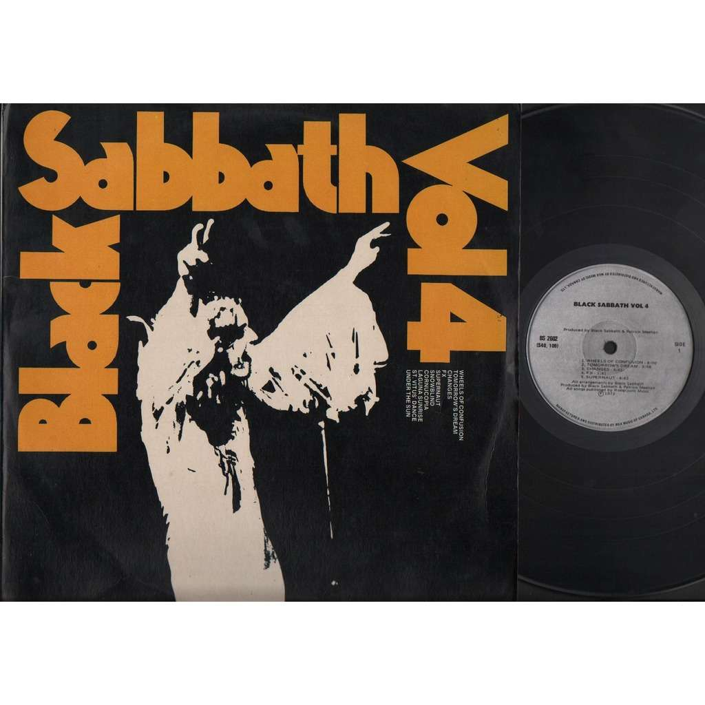 Black Sabbath Black Sabbath Vol 4 Vinyl with Popping Bubbles Canada 12  ELP1973