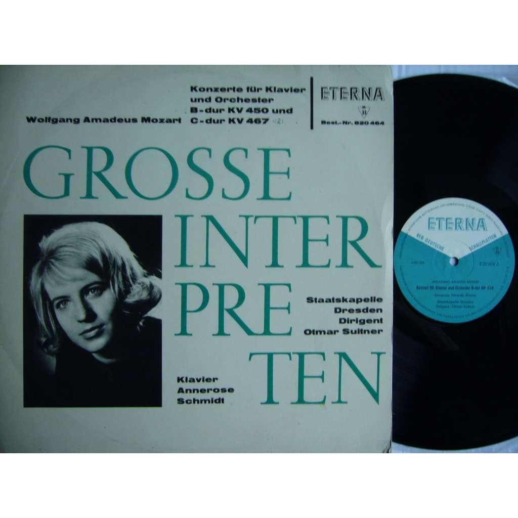Annerose Schmidt Mozart Piano Concertos #15 & 21 Suitner DDR ETERNA 820 464 MINT