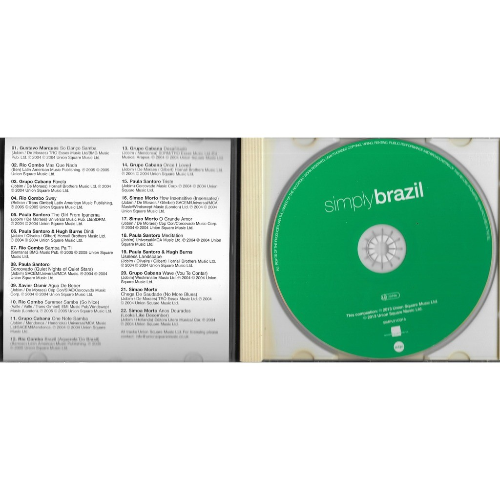 compilation . divers . various artists SIMPLY BRAZIL