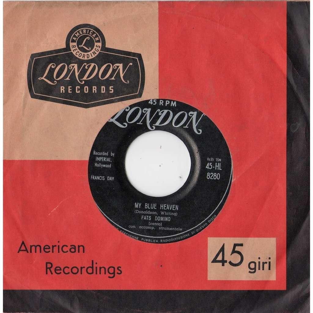 Fats Domino My Blue Heaven (Italian 1956 original 2-trk 7single London slv)
