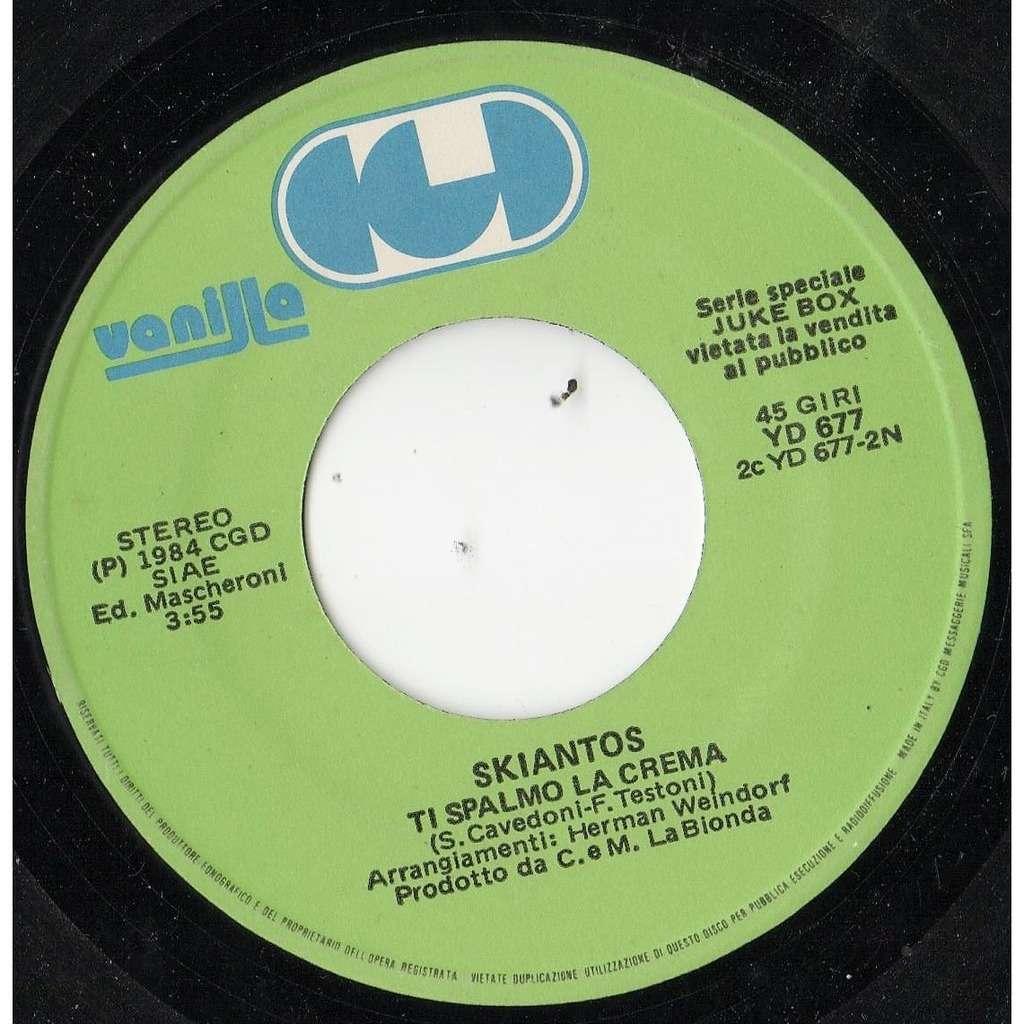 Skiantos Ti Spalmo La Crema (italian 1984 1-trk 7single promo on cgd-vanilla lbl)
