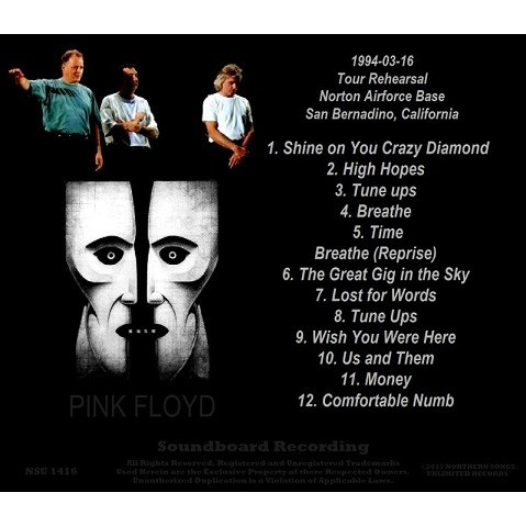 pink floyd grateful dead 1994 TOUR REHEARSAL IN SAN BERNARDINO LTD CD