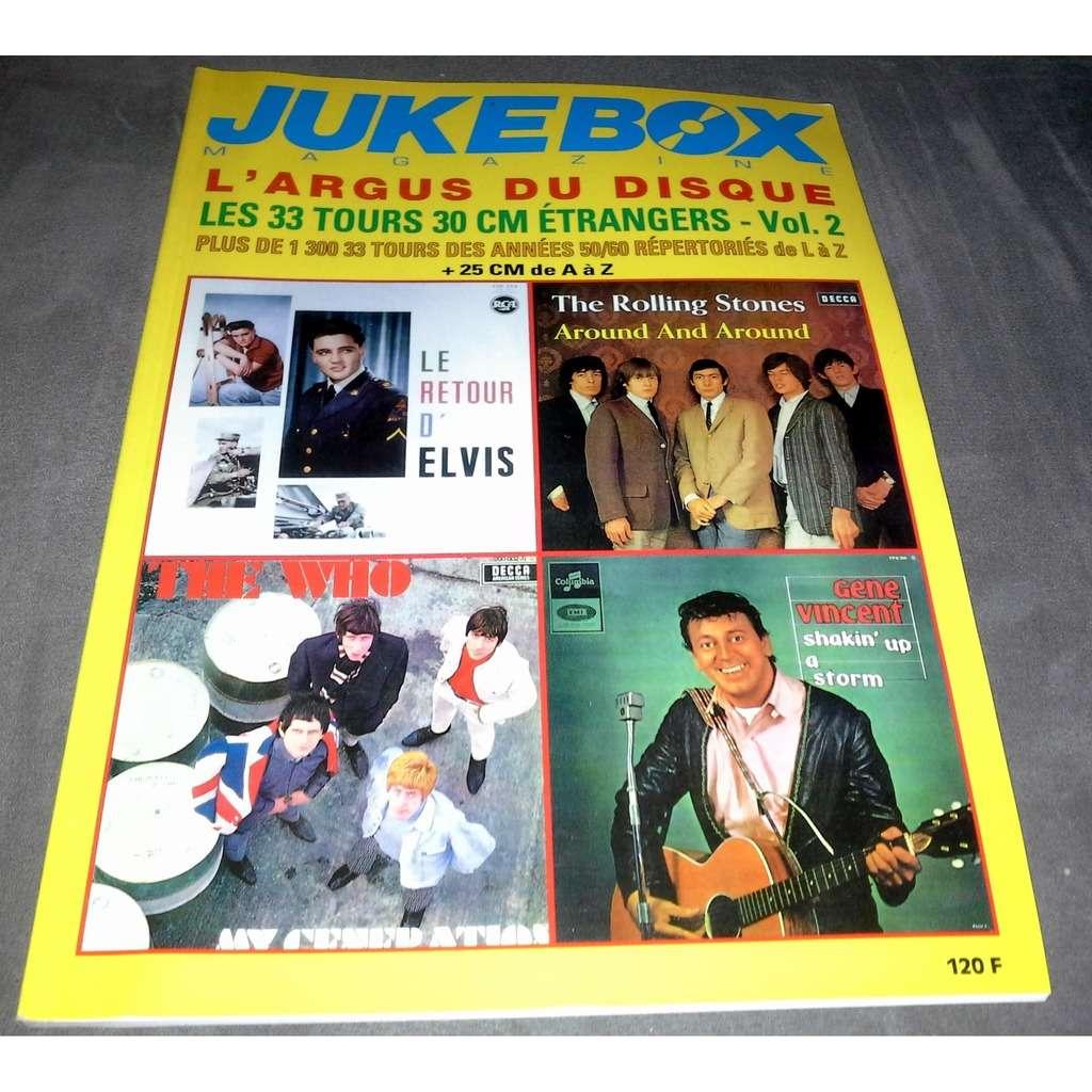 jukebox magazine l'argus du disque - les 33 tours 30 cm étrangers vol 2