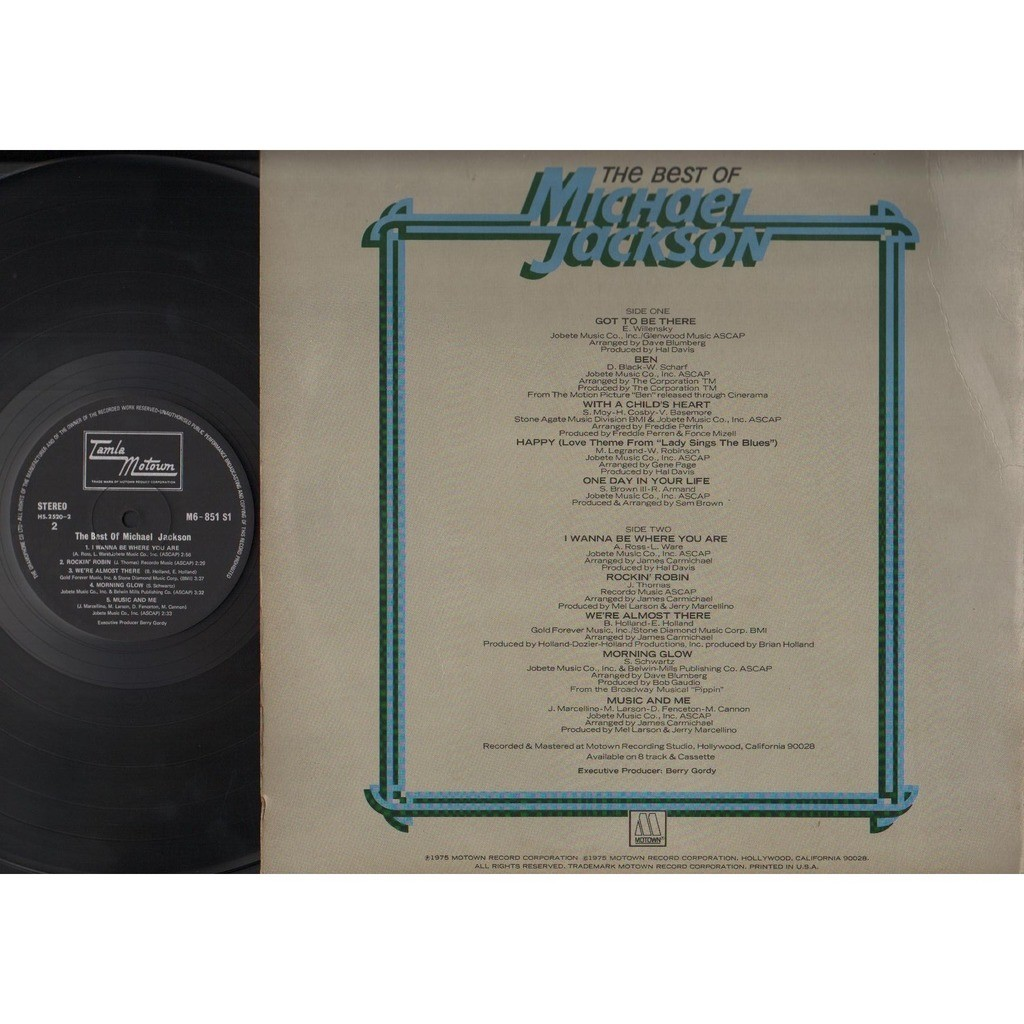 Michael Jackson The Best Of Michael Jackson Got To Be There Ben Motown USA 12 ELP1712