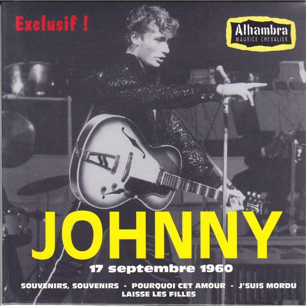 JOHNNY HALLYDAY À L'ALHAMBRA 17 SEPTEMBRE 1960 45T (EP 4 TITRES) - JUKEBOXMAG.COM