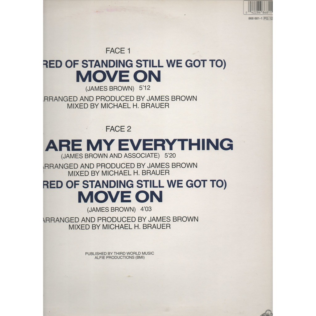 James Brown (So Tired Of Standing Still We Got To) Move On x2 / You Are My Everything