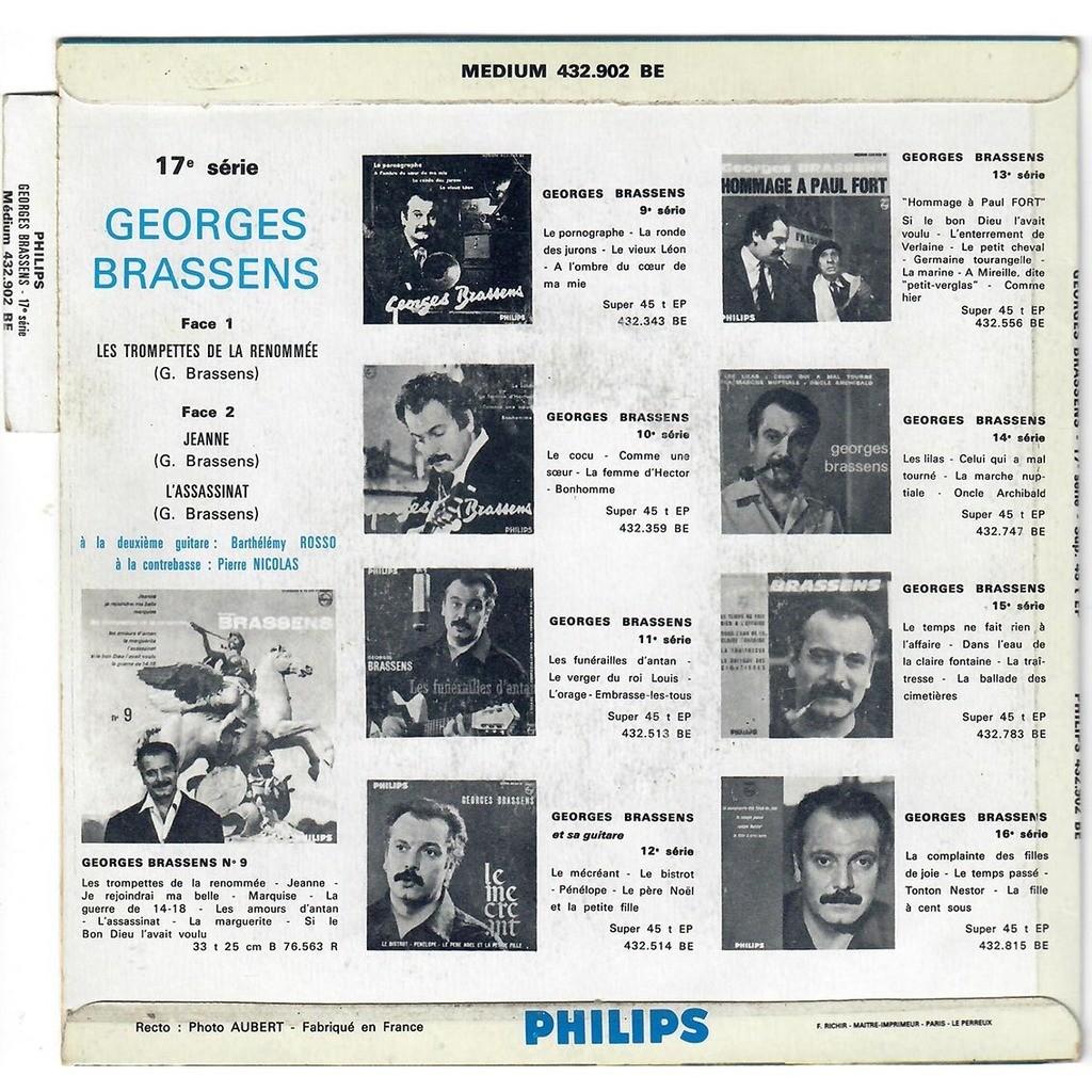 Georges Brassens Les Trompettes De La Renommée