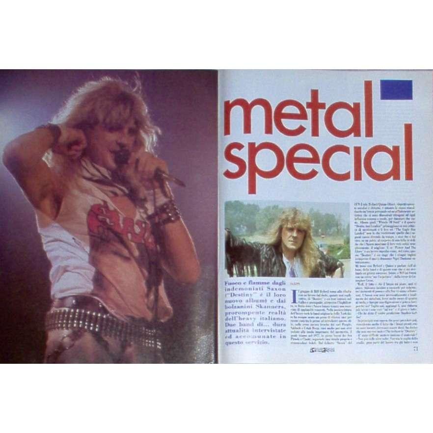 saxon CIAO 2001 (13 07 1988) (ITALIAN 1988 MUSIC MAGAZINE)