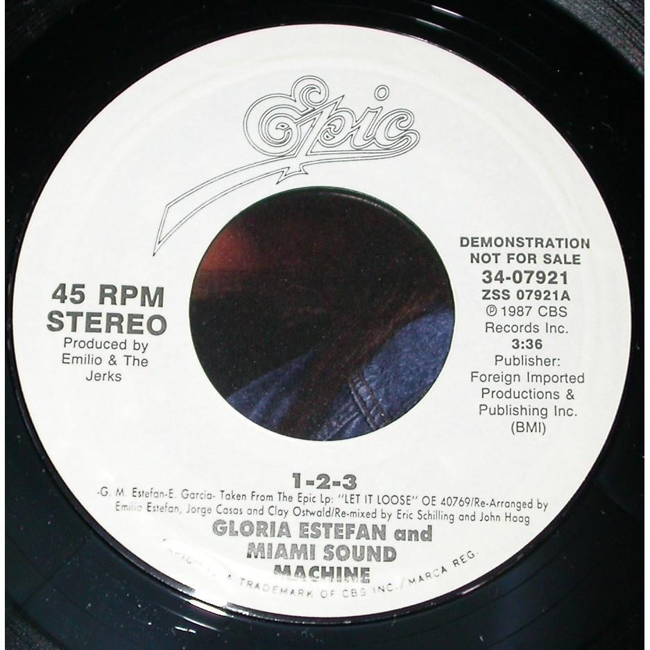 Gloria estefan & miami sound machine 1 2 3 Promo
