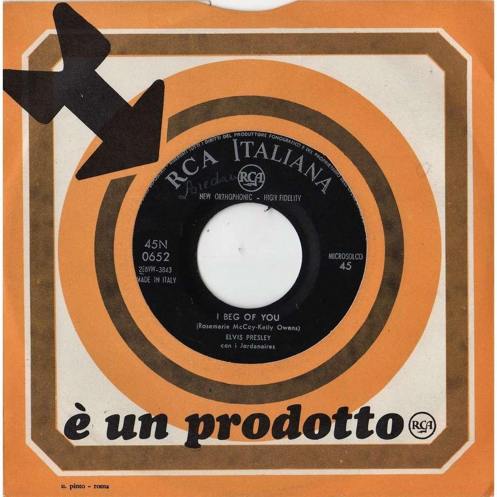 elvis presley Don't (Italian 1958 original 2-trk 7single RCA slv)