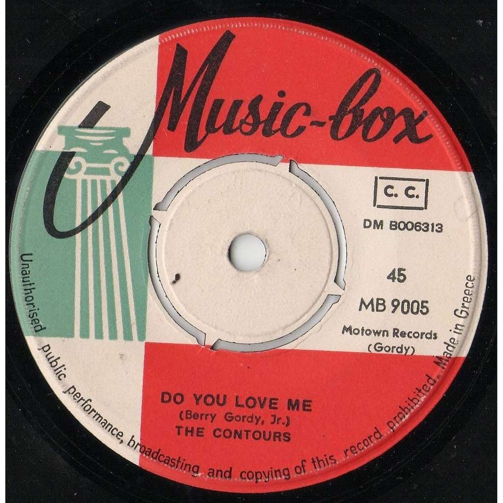 The Contours Do You Love Me / Move Mr. Man (Greek 1962 original 2-trk 7single on Music-Box lbl)