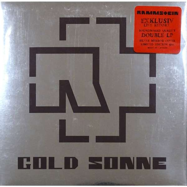 Rammstein Gold Sonne (2xlp) Ltd Edit Gatefold Sleeve -Canada