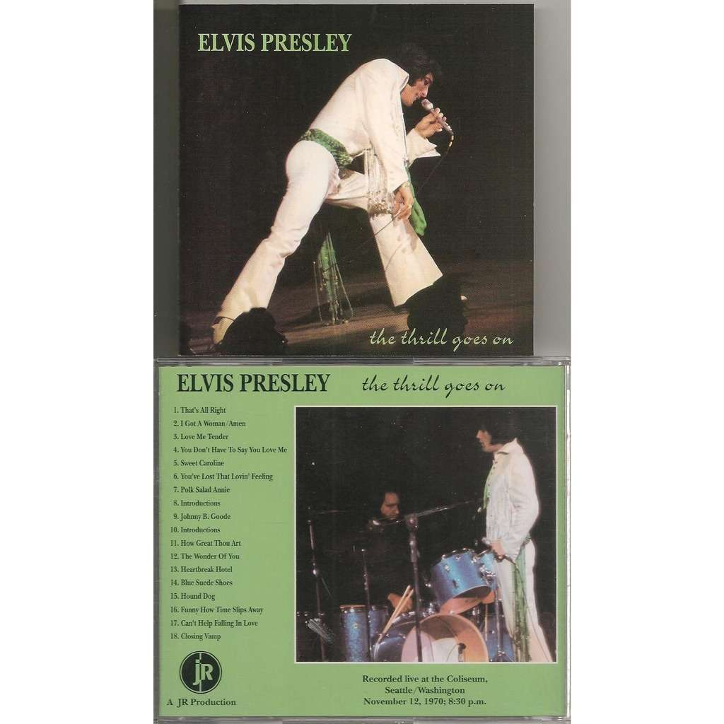 elvis presley cd the thrill goes on 12/11/70 seattle evening show