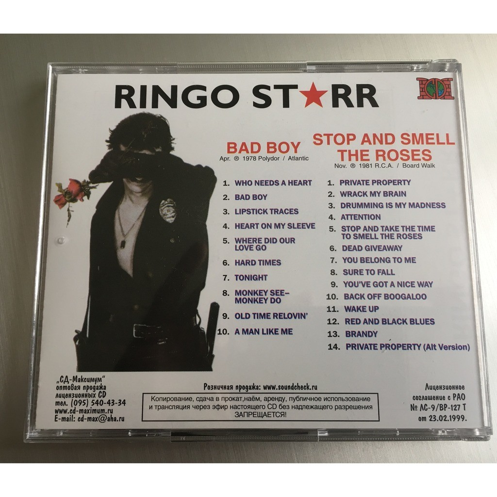 Ringo Starr Bad Boy / Stop and Smell the Roses
