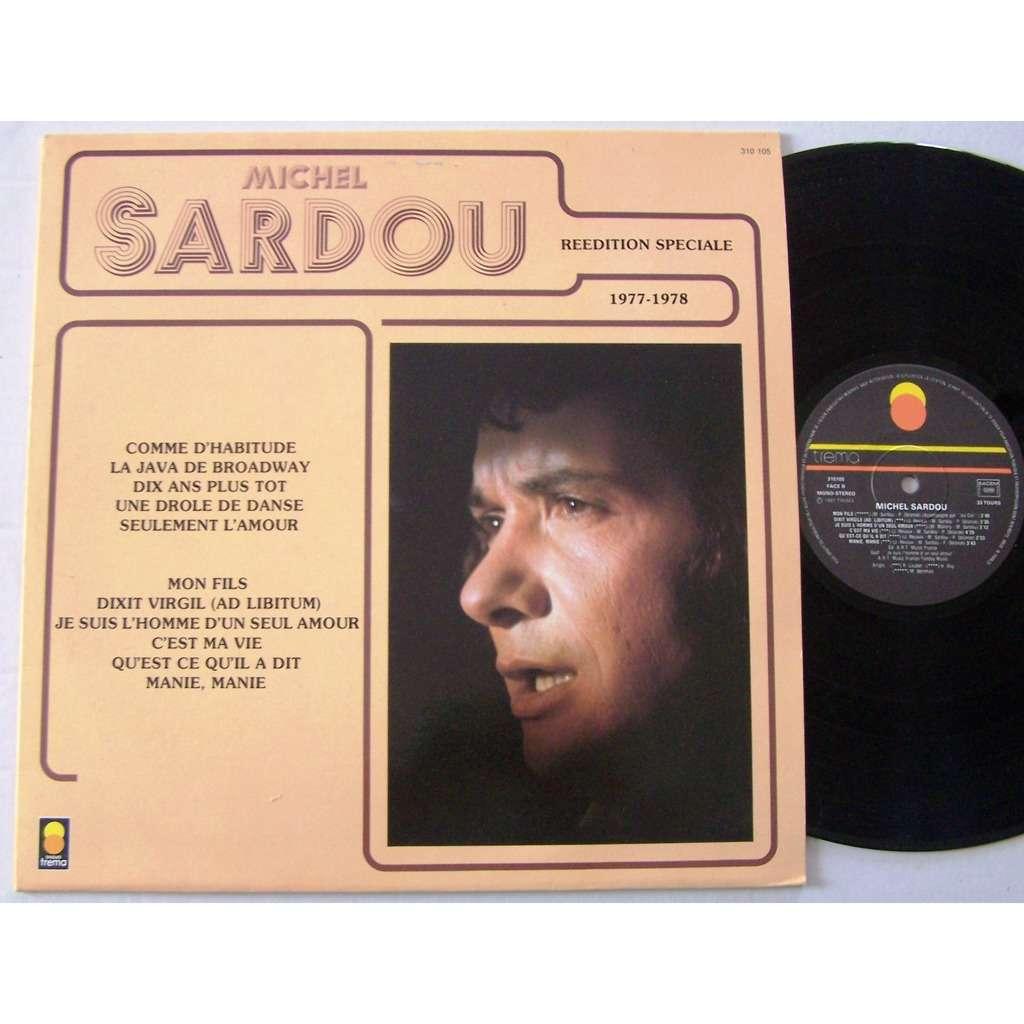 michel sardou LP 1977-1978 Comme d'habitude