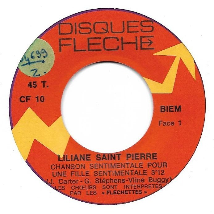 Saint Pierre Liliane Chanson sentimentale pour une fille sentimentale