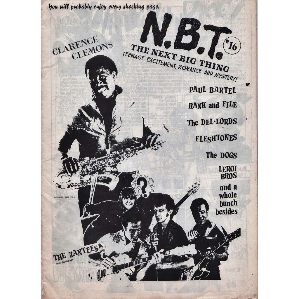 Bruce Springsteen / Clarence Clemons N.B.T. 16 (The Next Best Thing #16 1984) (Canada 1984 Clarence Clemons front cover magazine!)