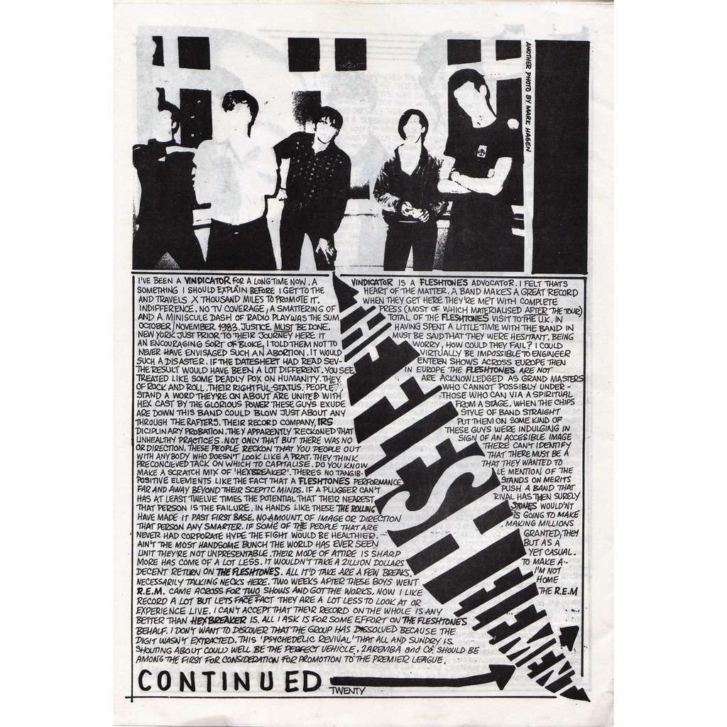 Fleshtones N.B.T. 16 (The Next Best Thing #16 1984) (Canada 1984 music magazine!)