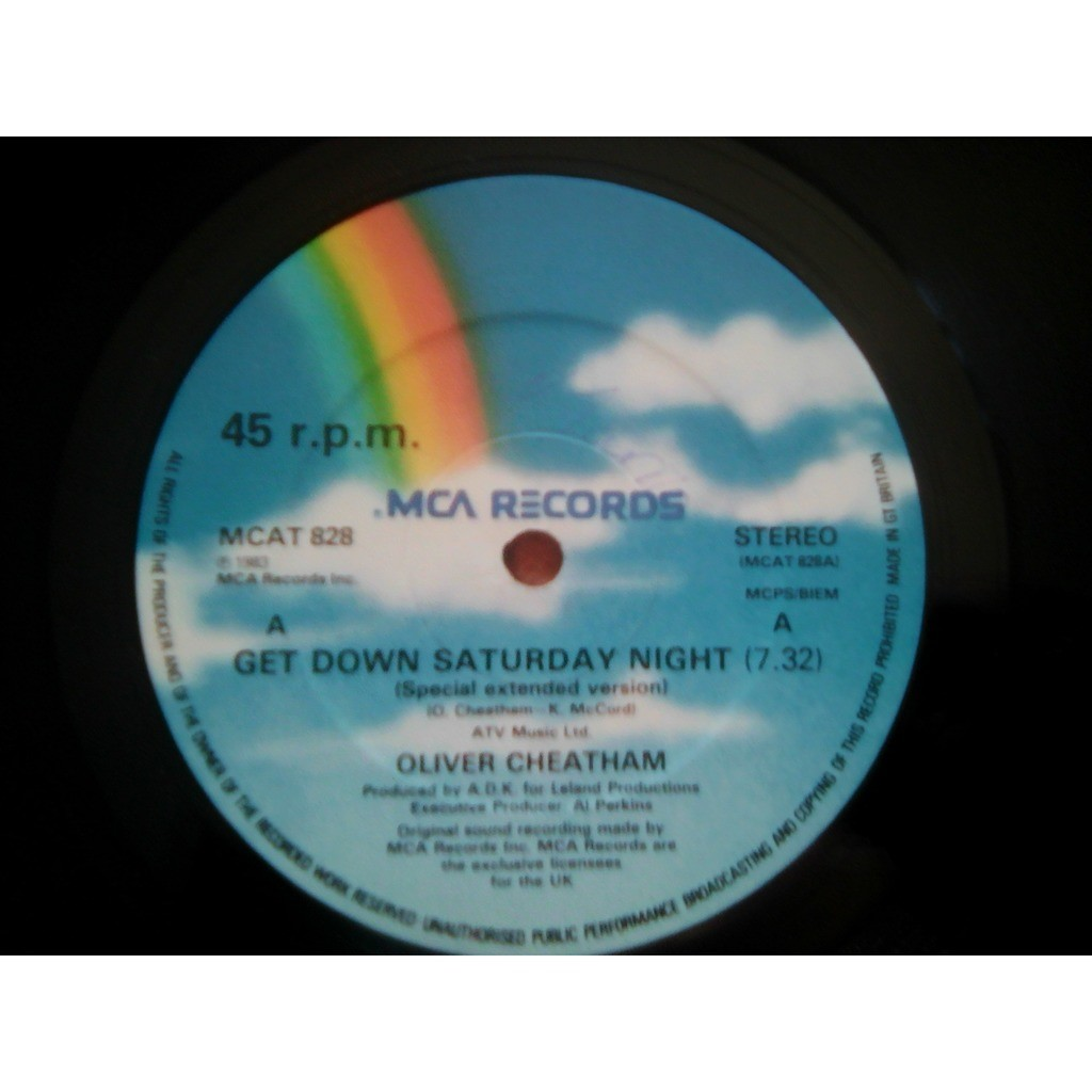 Oliver Cheatham Get Down Saturday Night (Special Extended Version)....	Something About You