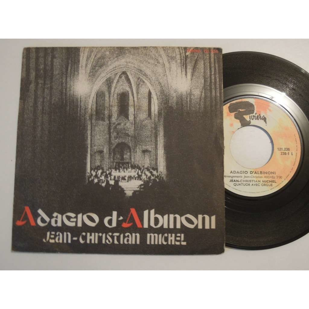 jean christian michel 2 sp lot, requiem & adagio d'albinoni,