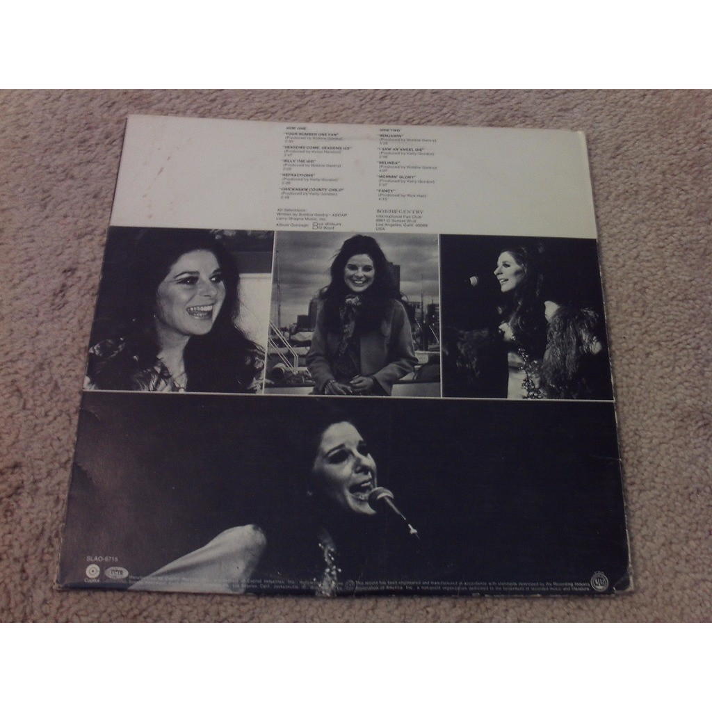 BOBBIE GENTRY YOUR NUMBER ONE FAN