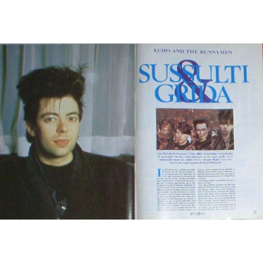 Echo & The Bunnymen Ciao 2001 (20.07.1988) (Italian 1988 music magazine)