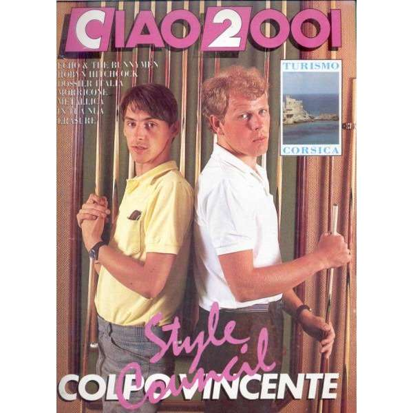 JAM / Style Council Ciao 2001 (20.07.1988) (Italian 1988 Style Council front cover magazine)