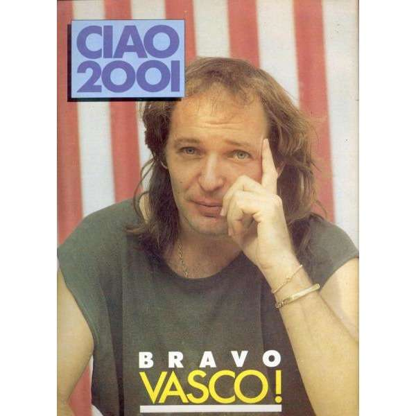 vasco rossi Ciao 2001 (20.07.1988) (Italian 1988 Vasco back cover magazine)