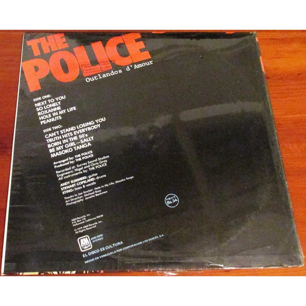 THE POLICE OUTLANDOS D'AMOUR