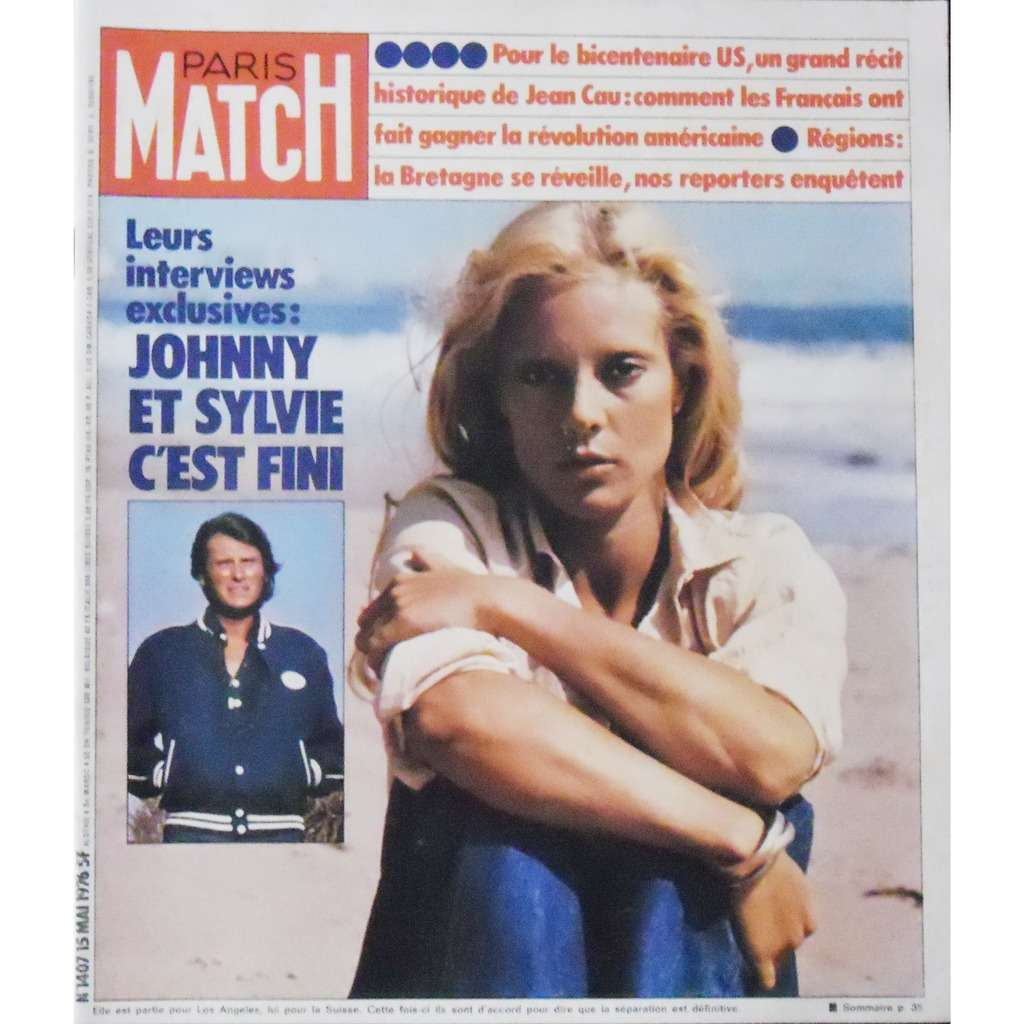 paris match de sylvie vartan johnny hallyday magazine chez musiquepourtous ref 118878269. Black Bedroom Furniture Sets. Home Design Ideas