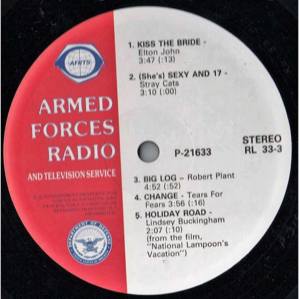 Elton John Armed Forces Radio And TV Service P-21633 (USA 1983 'AFRTS' promo-only BROWN wax LP sampler!!)