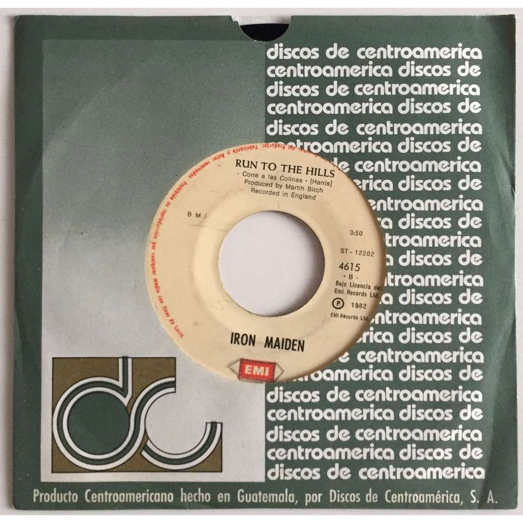 Iron Maiden El Numero De La Bestia (Guatemala 1982 Ltd original 2-trk 7single on EMI spanish lbl Co. slv)