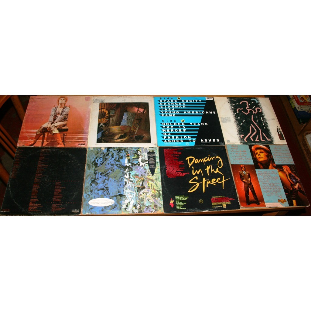 DAVID BOWIE 8 ALBUMS: YOUNG AMERICANS/ TONIGHT/ NEVER LET ME DOWN & OTHERS