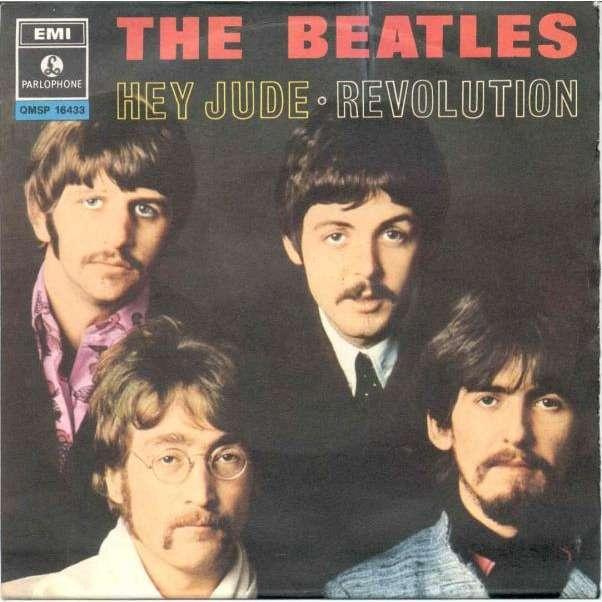 Beatles Hey Jude Italian 1968 2 Trk 7 Single Unique Ps
