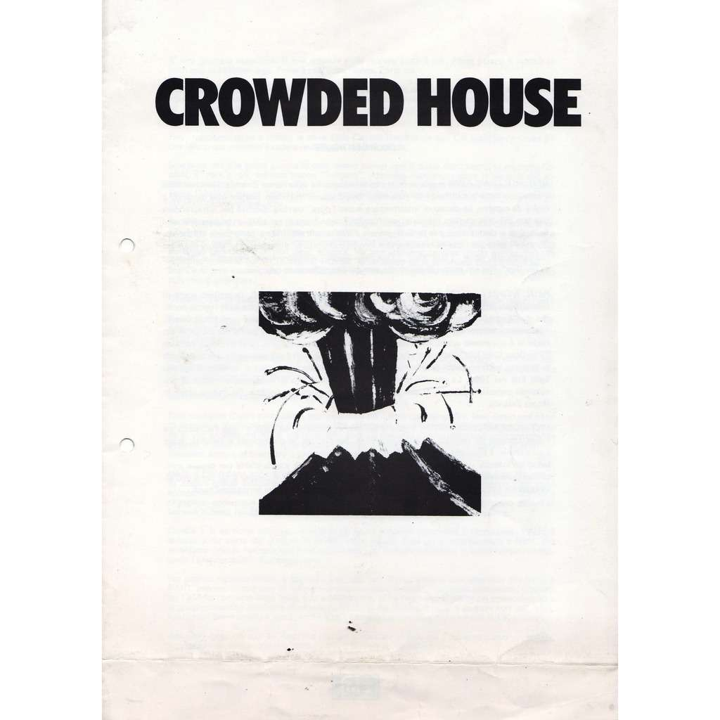 Awesome Crowded House Crowded House Italian 1986 Emi Album Release 4 Pag Press Kit Home Remodeling Inspirations Cosmcuboardxyz