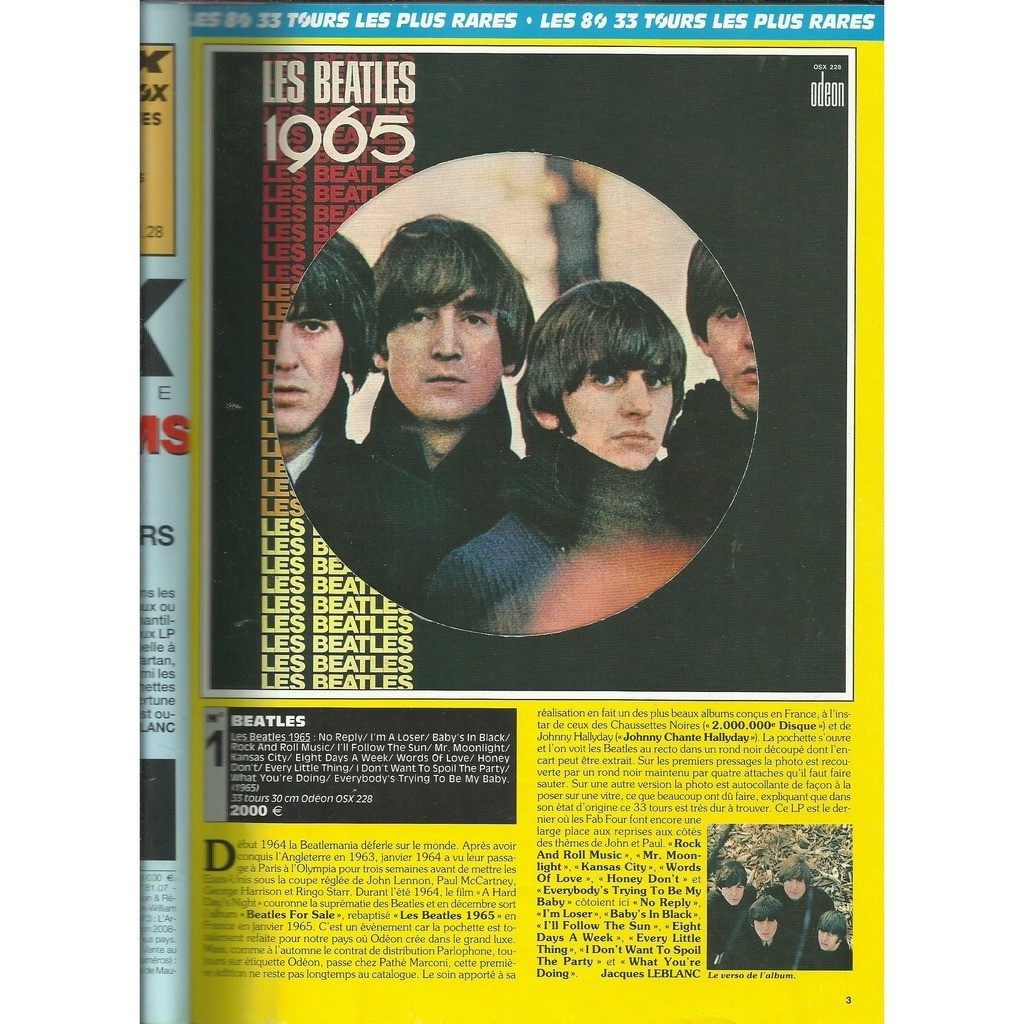 the beatles 1965 original complet