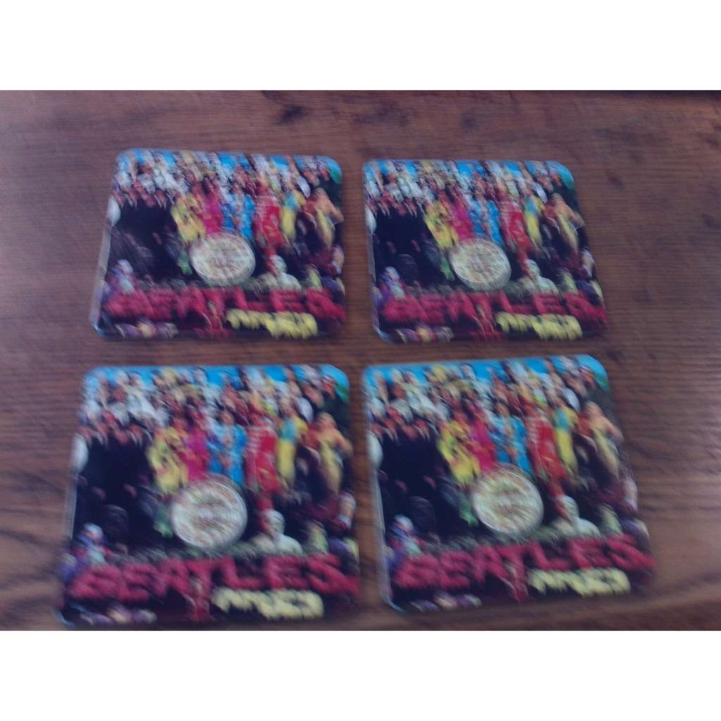 Beatles set of 4 SGT. PEPPER'S LONELY HEARTS CLUB BAND drink coasters