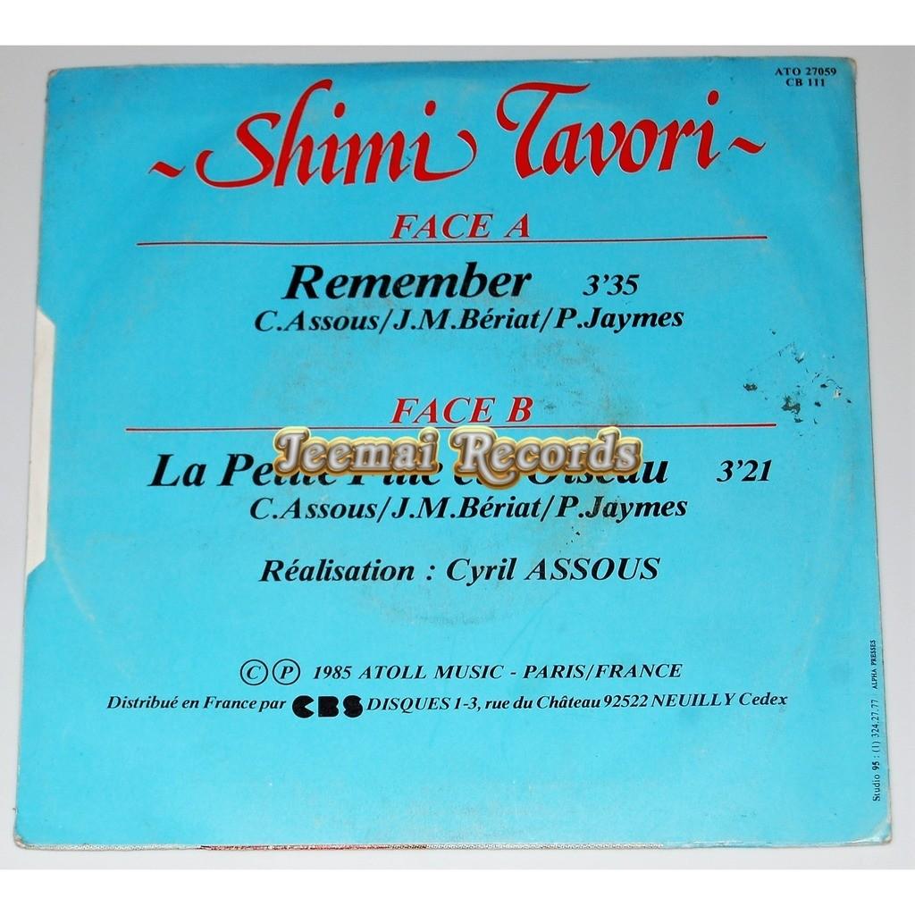 SHIMI TAVORI Remenber / La petite fille et l'oiseau
