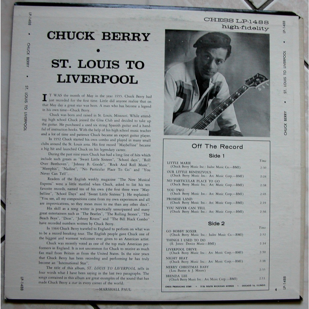 chuck berry st Louis to Liverpool