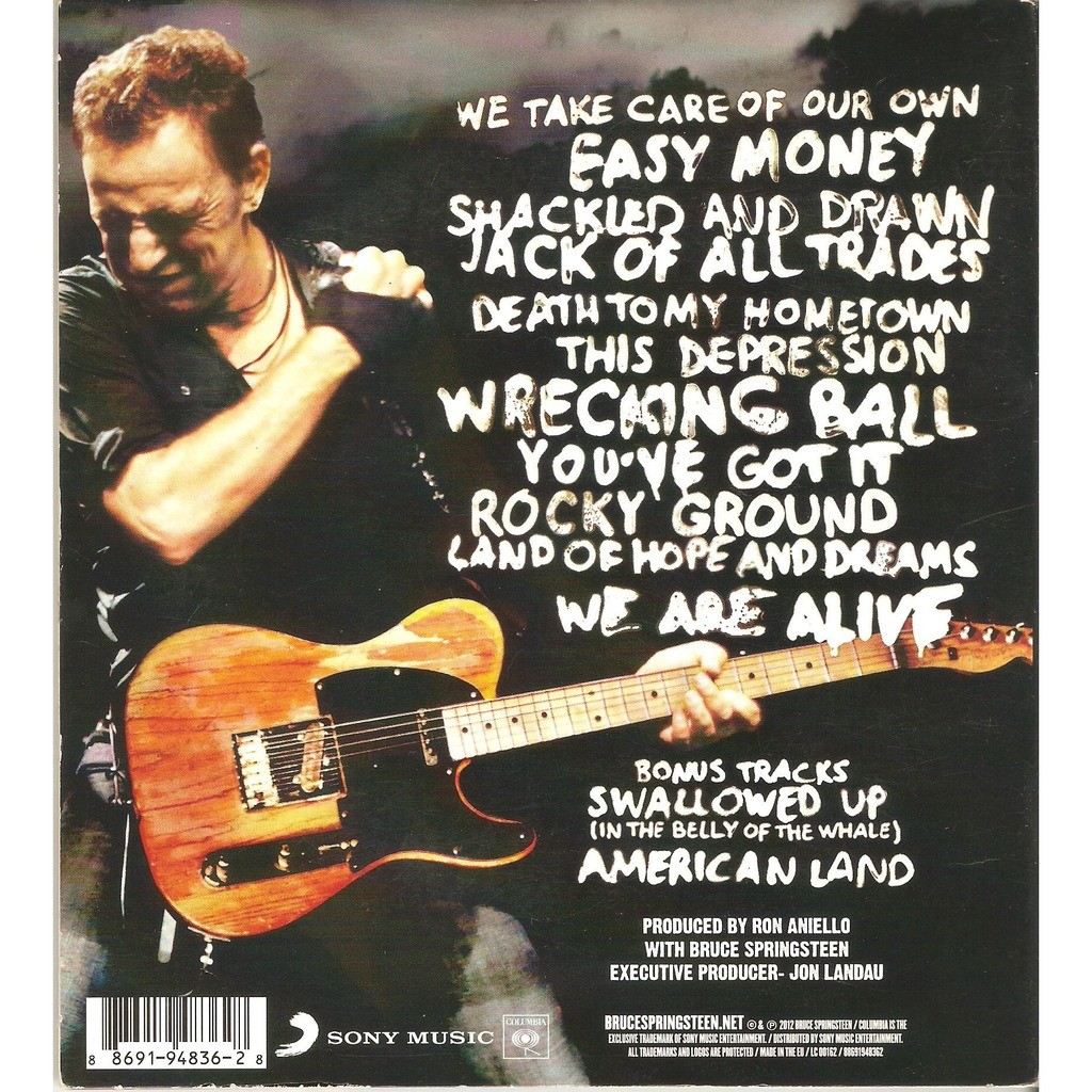 Wrecking Ball By Bruce Springsteen Cd With Chomin Ref