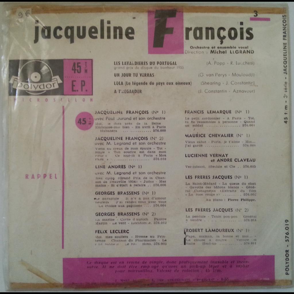 jacqueline francois les lavandières du Portugal