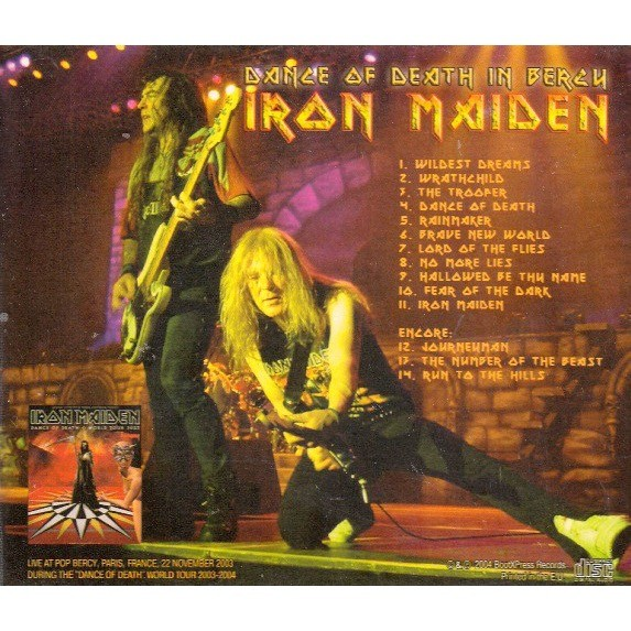 IRON MAIDEN - DANCE OF DEATH IN BERCY (BERCY, PARIS, FRANCE, NOVEMBER, 22, 2003)