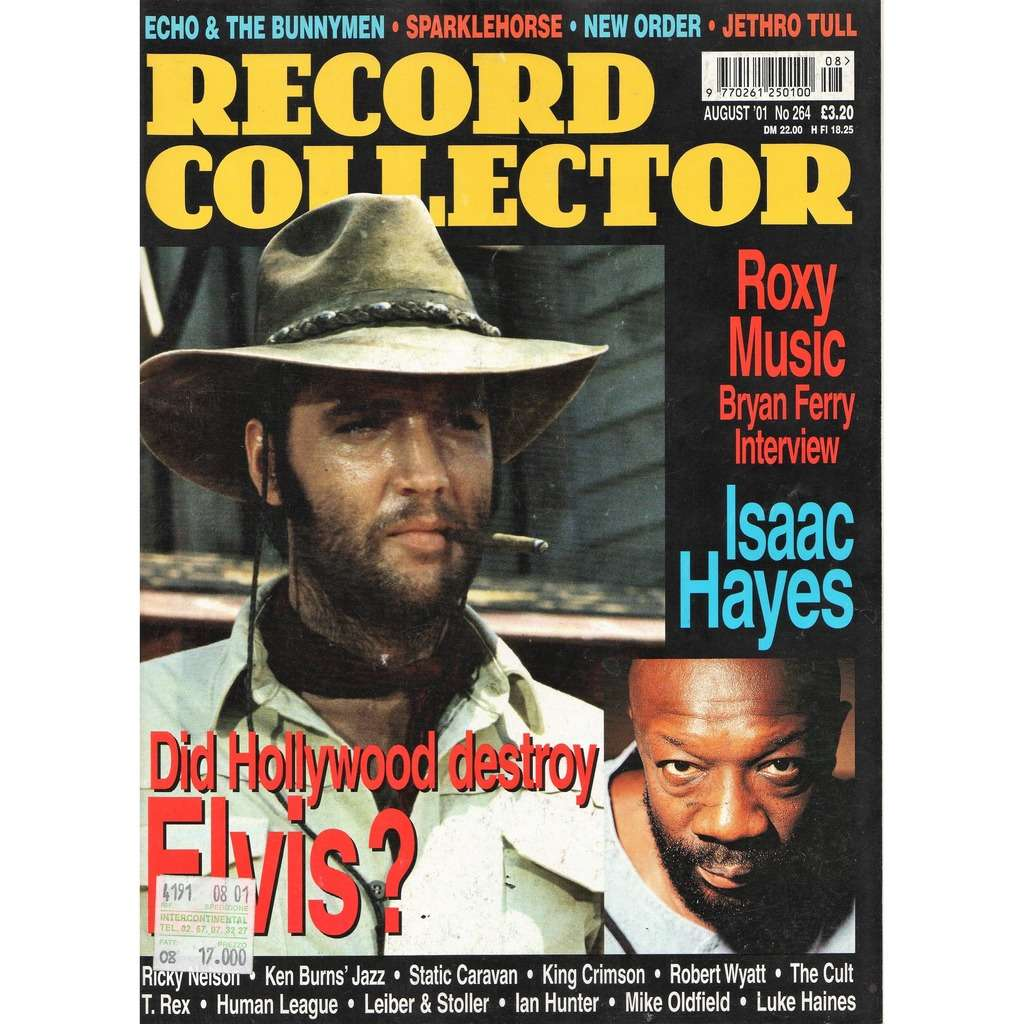 elvis presley Record Collector (N.264 Aug. 2001) (UK 2001 Elvis front cover collector's magazine)