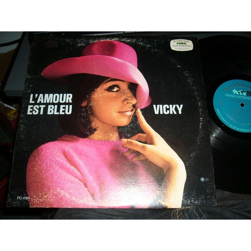 vicky leandros l'amour est bleu pressage canadien très rare MONO PC-1194different référence numero