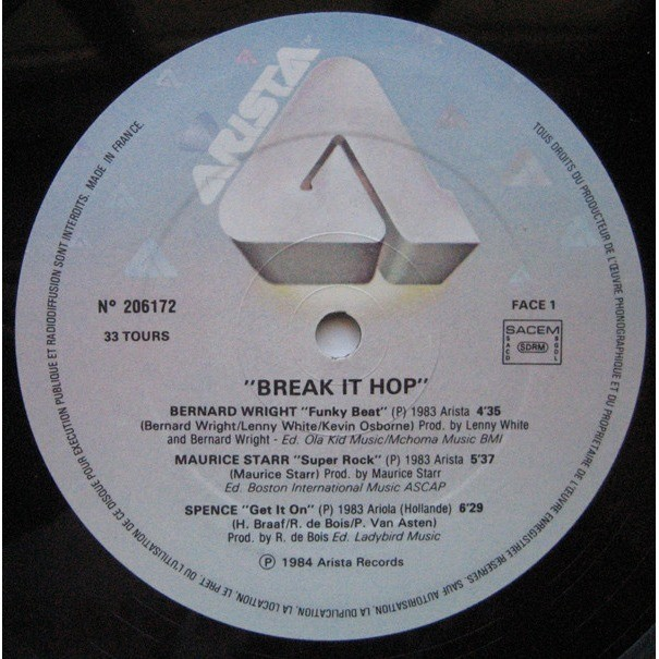 Bernard Wright and 05 Various Artists Funky Beat [ Break It Hop Compilation 06 Tracks ]