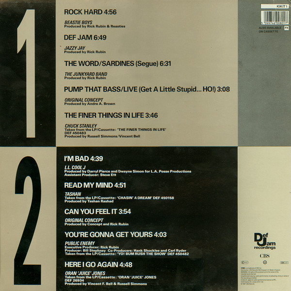 Beastie Boys Rock Hard [ Kick It! The Def Jam Sampler Volume One ] -Compilation 09 Tracks