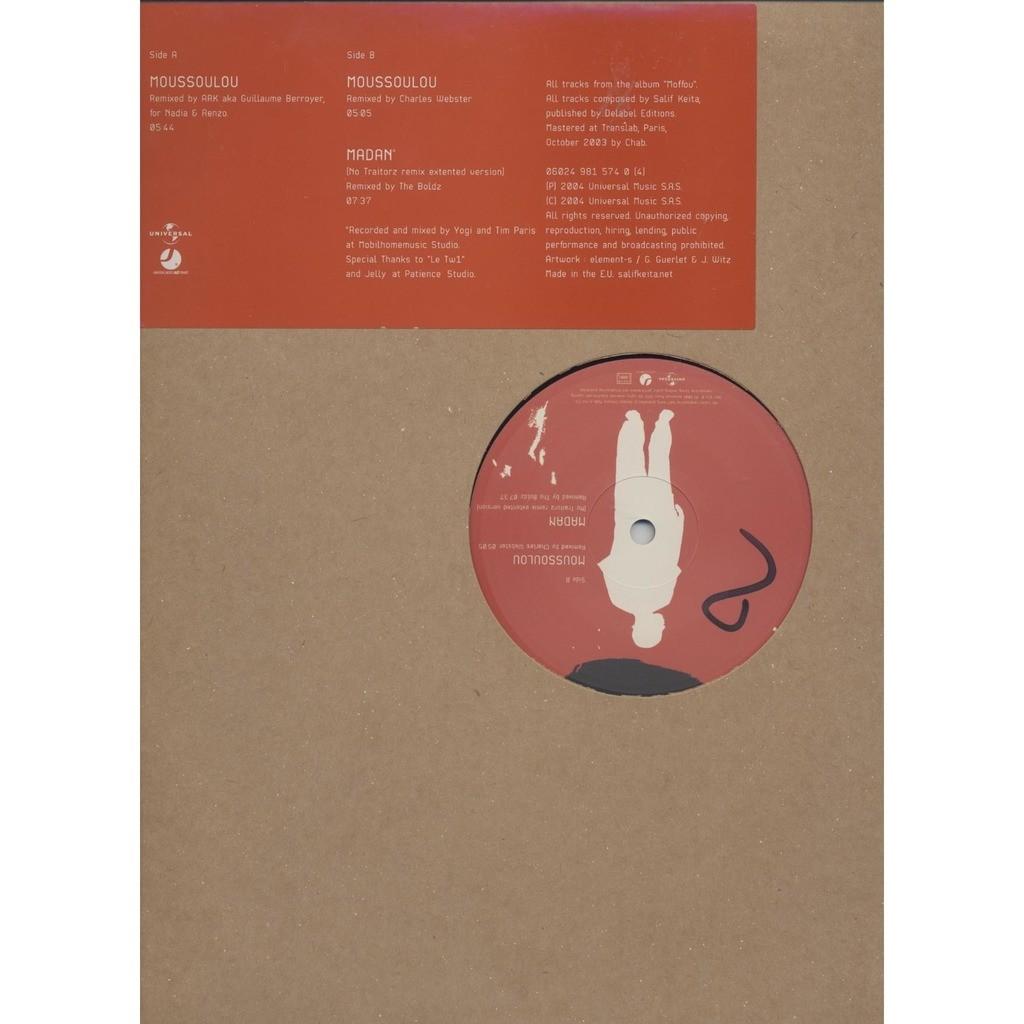 Salif Keita remixes from moffou- ( Moussoulou x2 / Madan)- limited